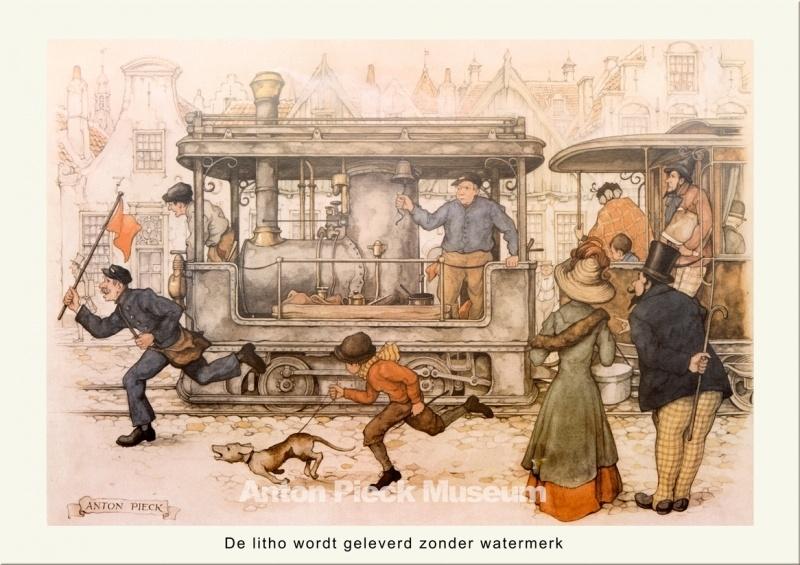 Oude trein (grootformaat)