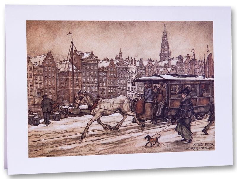Amsterdam Damrak (Unieke Amsterdam collectie) (wenskaart)