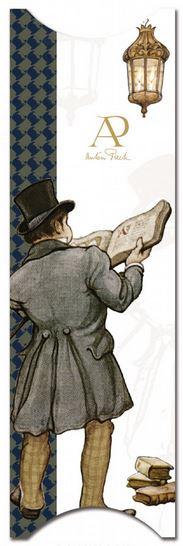 Boekenlegger Anton Pieck in detail, Man