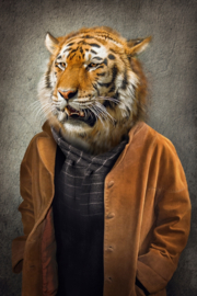 Tiger with coat