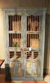 Oude Almirah kast India 118x45xh204 cm