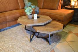 8-hoekige salontafelset van 2