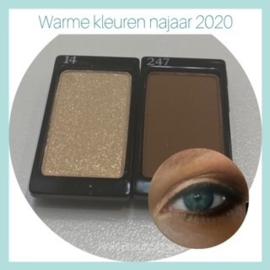 Arabesque Eyeshadow warme teinten (nummer 14 en 247)