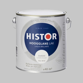 Histor Perfect Finish Lak Leliewit 6213 Hoogglans - 10 Liter