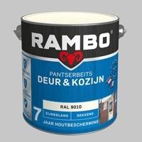 Rambo Pantserbeits Deur&Kozijn Dekkend RAL 9010 Hoogglans - 2,5 Liter