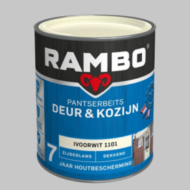 Rambo Pantserbeits Deur&Kozijn Dekkend Ivoorwit 1101 Zijdeglans - 0,75 Liter