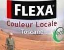 4 Blikken Flexa Couleur Locale Toscane Terra 4035 Zijdeglans - 0,75 Liter