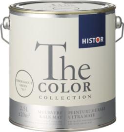 Histor The Color Collection Muurverf - 5 Liter - Throughout Green (SCHADE Bliken Gedeukt)