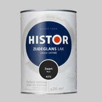 Histor Perfect Finish Lak Zwart 6372 Hoogglans - 1,25 Liter