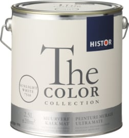 Histor The Color Collection Muurverf - 2,5 Liter - Sunlight White