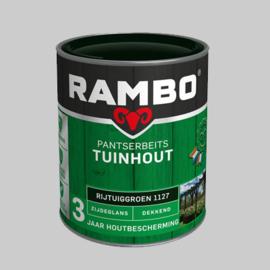 Rambo Pantserbeits Tuinhout  zijdeglans rijtuigengroen 1127 - 0,75 Liter
