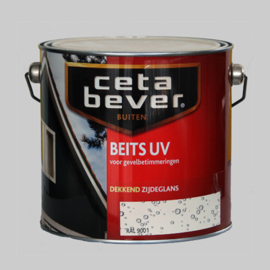 Cetabever Beits UV Dekkend Zijdeglans ivoorwit 743 - 2,5 Liter
