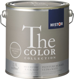 Histor The Color Collection Muurverf - 2,5 Liter - Boulevard Brown