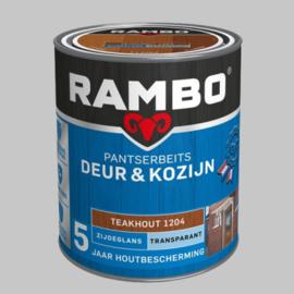 Rambo Pantserbeits Deur&Kozijn Transparant Teakhout 1204 Zijdeglans - 2,5 Liter