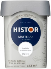 Histor Perfect Finish lak Mat Ivoor 6553 - 0,75 Liter