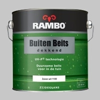 Rambo Buitenbeits Dekkend Zuiverwit 1100 Zijdeglans - 2,5 Liter