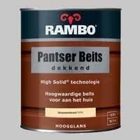 10 Blikken Rambo Pantserbeits Dekkend Zandgeel 1118 Hoogglans - 0,75 Liter