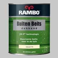 10 x Rambo Buitenbeits Dekkend Boerenwit 1109 Zijdeglans - 0,75 Liter