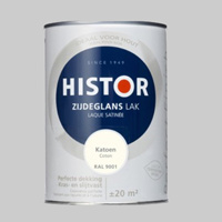 Histor Perfect Finish Lak Katoen RAL 9001 Hoogglans - 1,25 Liter