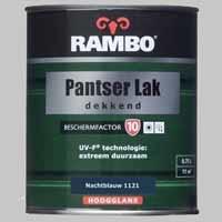 Rambo Pantserlak Dekkend Diepzwart 1123 BF 10 Hoogglans - 0,75 Liter