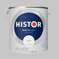 Histor Perfect Finish lak Hoogglans Katoen RAL 9001 - 2,5 Liter