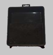 Verfbak Vierkant Zwart - 20 x 20 cm