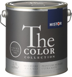 Histor The Color Collection Muurverf - 2,5 Liter - Count Black