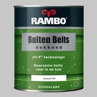 10 x Rambo Buitenbeits Dekkend Ivoorwit 1101 Zijdeglans - 0,75 Liter