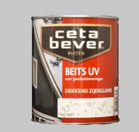 5 x Cetabever Beits UV Dekkend Zijdeglans Gebroken wit 745 - 0,75 Liter