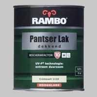 Rambo Pantserlak Dekkend Cremewit 1110 BF 10 Hoogglans - 0,75 Liter