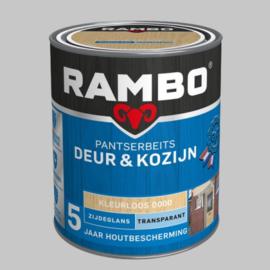 Rambo Pantserbeits Deur&Kozijn Transparant Kleurloos 0000 Hoogglans - 0,75 Liter