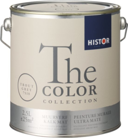 Histor The Color Collection Muurverf - 2,5 Liter - Trout Grey