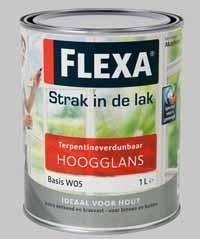 Flexa Strak in de Lak Hoogglans - 1 Liter