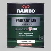 Rambo Pantserlak Dekkend Zuiverwit 1100 BF 10 Hoogglans - 0,75 Liter