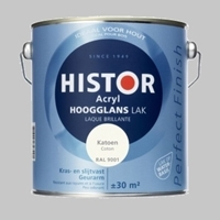 Histor Perfect Finish hoogglans acryl lak Zonlicht RAL 9010 - 2,5 Liter