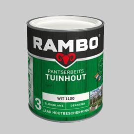 Rambo Pantserbeits Tuinhout  zijdeglans wit 1100 - 0,75 Liter