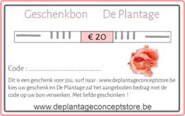 Geschenkpakket  - Geschenkbon De Plantage