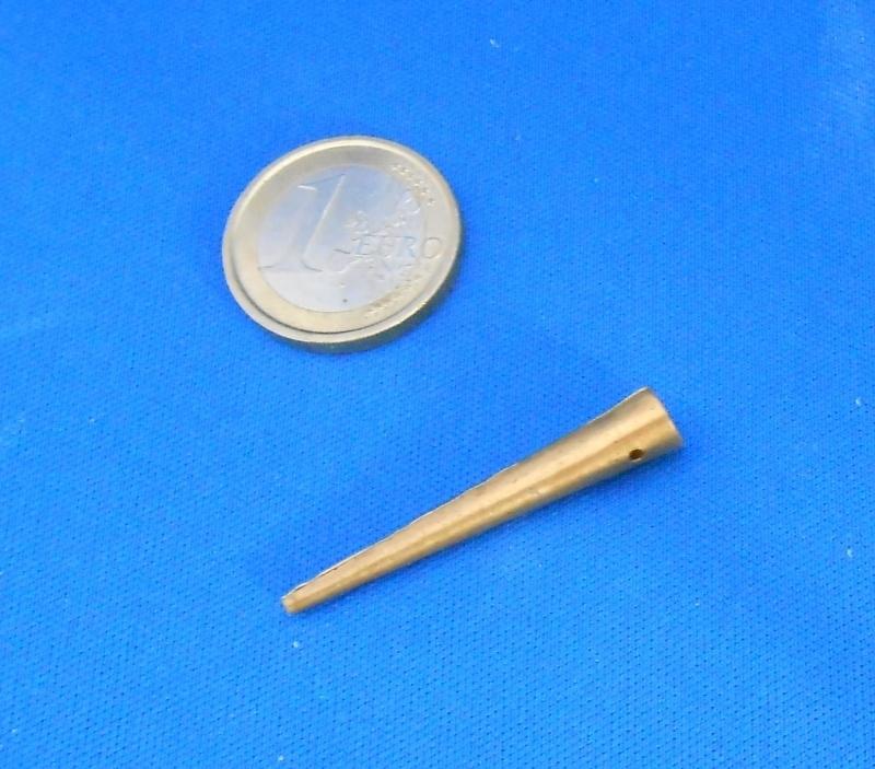 24x aiglet 5 mm brass