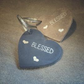 sleutelhanger hart blessed diverse kleuren SL002