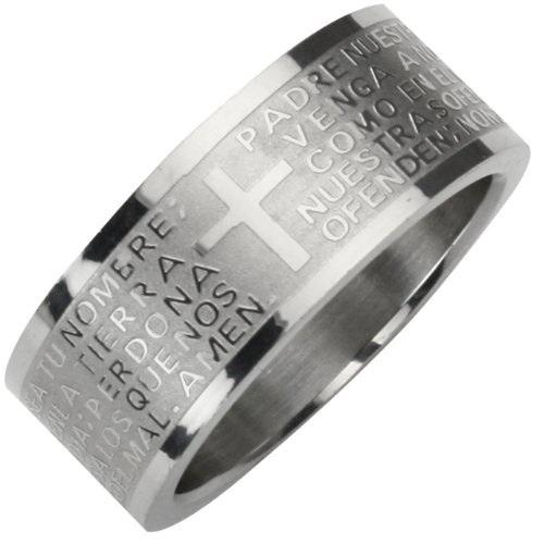 """Ring RVS """"onze Vader"""" spaans R001"""
