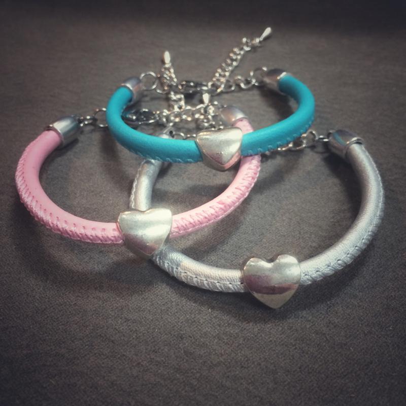 Meisjes bleu silver roze