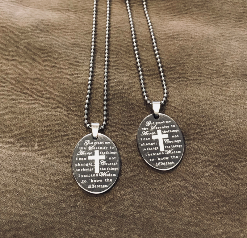 Ketting serenity prayer K019