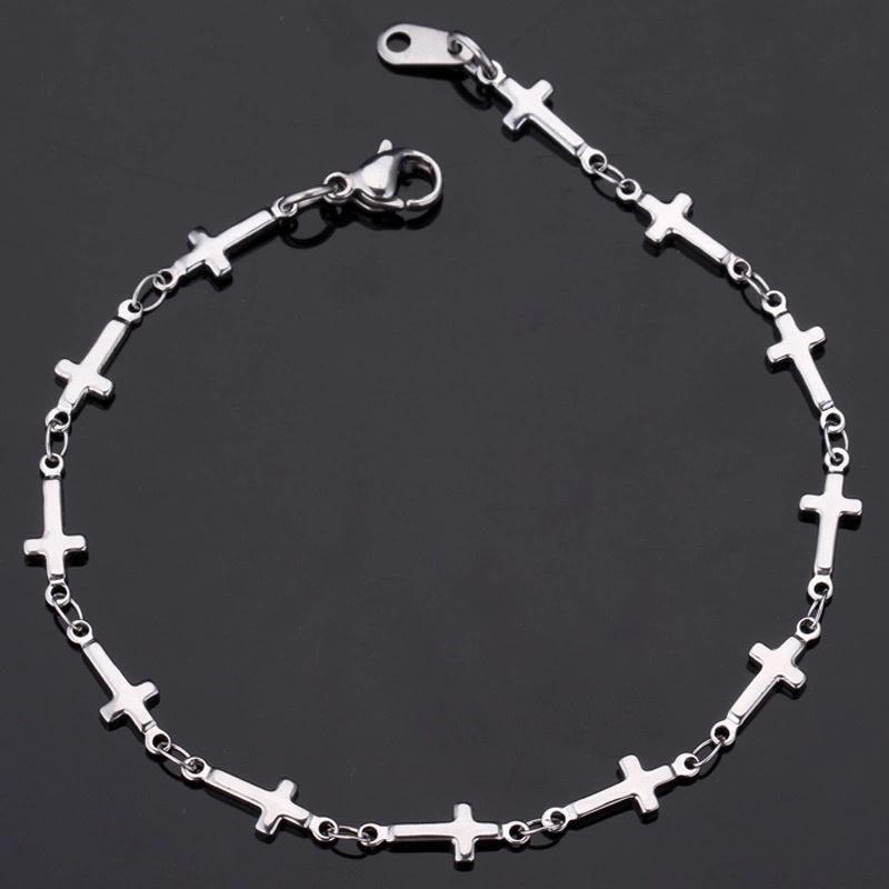 Kruisjes zilver RVS007