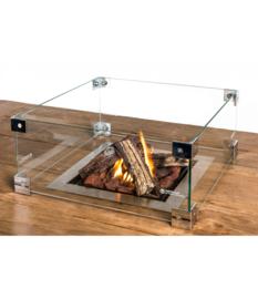 Cocoon Table Glazen ombouw Inbouwbrander Vierkant