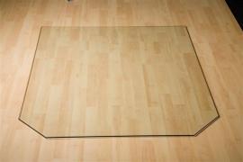 Glazen Zeskantige vloerplaat 800x800x6 mm