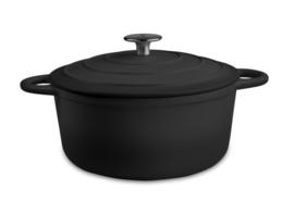 Kookpan satijn zwart  21CM