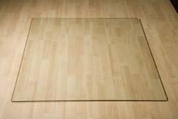 Glazen Vierkante vloerplaat 700x700x6 mm