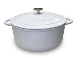 Kookpan satijn wit 28CM