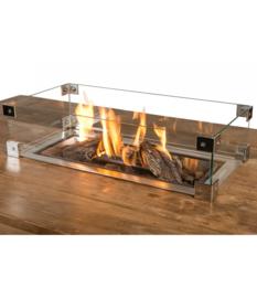 Cocoon Table Glazen ombouw Inbouwbrander Rechthoek