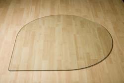 Glazen Druppel vloerplaat  800x800x6 mm